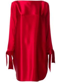 платье шифт с завязками на манжетах  Gianluca Capannolo