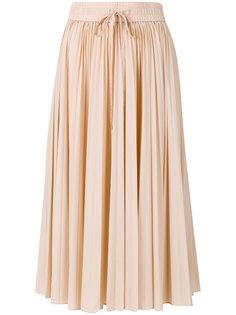 плиссированная юбка-миди Red Valentino