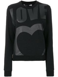 толстовка с принтом-логотипом Love Moschino