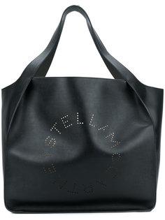 сумка-тоут с перфорированным логотипом Stella McCartney