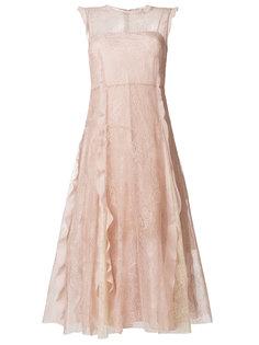 кружевное платье с оборками Red Valentino