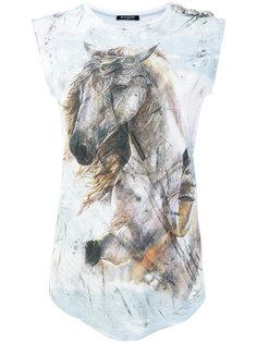 футболка с принтом лошади Balmain