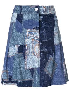 юбка с лоскутным эффектом Moschino