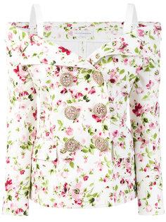 двубортный пиджак с цветочным принтом Faith Connexion