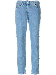джинсы прямого кроя с заклепками  Moschino