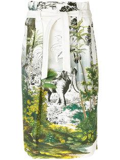 юбка с растительным принтом  Alberta Ferretti