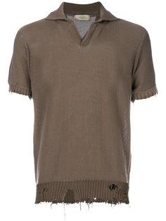 футболка-поло с потертой отделкой Maison Flaneur