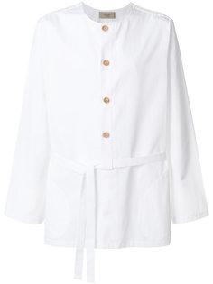 рубашка без воротника с завязками  Maison Flaneur