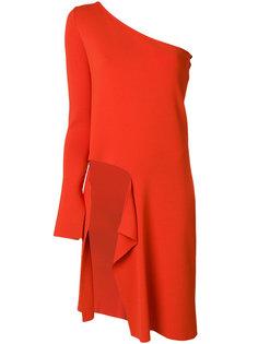 асимметричное платье на одно плечо  MRZ