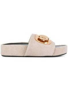 сандалии с золотистой пряжкой Stella Luna