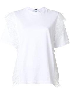 футболка с кружевными деталями MSGM