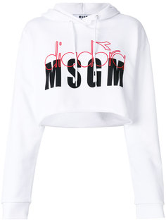 толстовка с капюшоном и логотипом MSGM