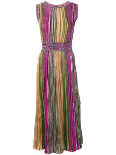 приталенное платье с круглым вырезом Missoni