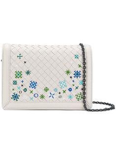 сумка на плечо Intrecciato с вышивкой Bottega Veneta