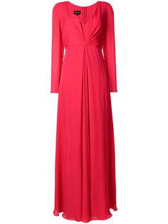 платье с длинными рукавами и сборкой  Giorgio Armani