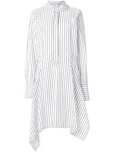 полосатое асимметричное платье-рубашка  JW Anderson