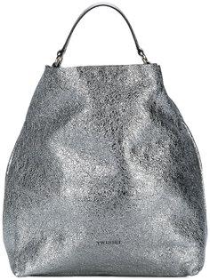 сумка-мешок с эффектом металлик Twin-Set