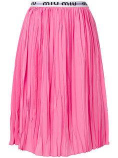 плиссированная юбка миди  Miu Miu