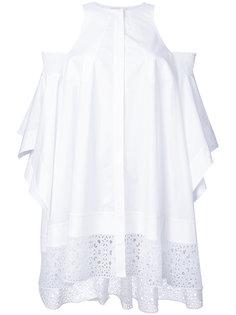 оверсайз-рубашка с вырезами  Antonio Berardi