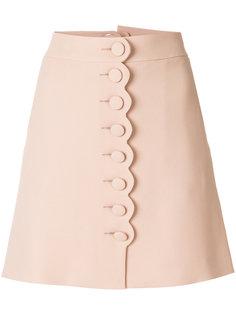 мини-юбка с фигурной отделкой  Chloé