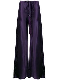 брюки-палаццо с завышенной талией и кисточкой  Roberto Cavalli
