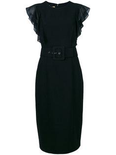 платье-футляр с оборками на рукавах  Michael Kors