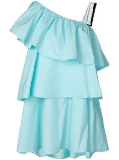 ярусное асимметричное платье с оборками  Au Jour Le Jour
