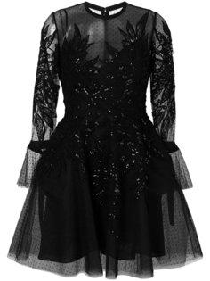 декорированное платье из тюля Elie Saab