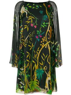 платье с принтом джунглей Alberta Ferretti