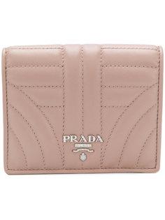 стеганый кошелек с логотипом Prada