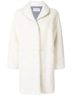 пальто с норковым мехом  Yves Salomon