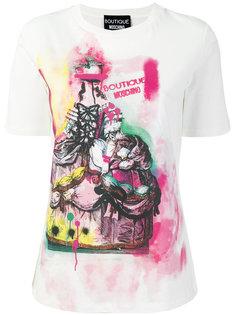 футболка с принтом граффити Boutique Moschino