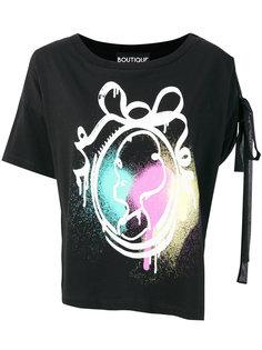 футболка с завязками на рукаве Boutique Moschino