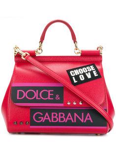 сумка-тоут Sicily с логотипом Dolce & Gabbana