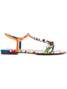 сандалии Belucci с принтом Majolica Dolce & Gabbana