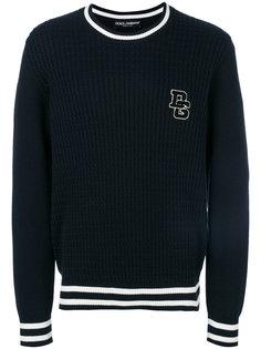 свитер с полосатой окантовкой Dolce & Gabbana