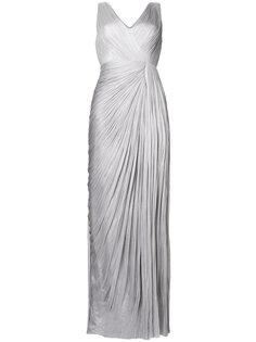 драпированное длинное платье с V-образным вырезом Maria Lucia Hohan