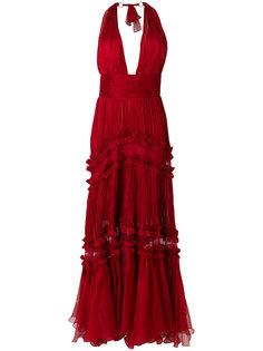 длинное платье с вырезом-халтер Maria Lucia Hohan