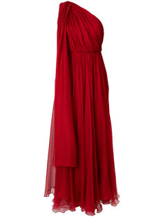 драпированное длинное платье  Maria Lucia Hohan
