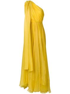 драпированное длинное платье на одно плечо Maria Lucia Hohan