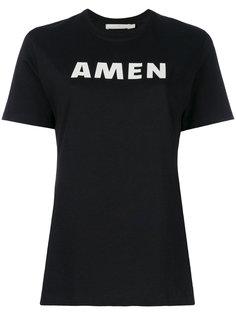 футболка с принтом-логотипом Amen Amen.