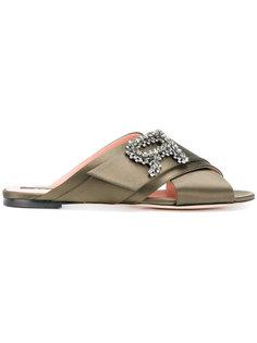 сандалии с перекрещивающимися ремешками  Rochas