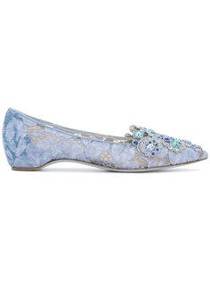 декорированные балетки с заостренным носком René Caovilla