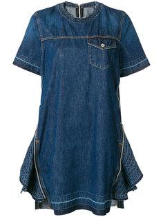 декорированное джинсовое платье на молнии Sacai