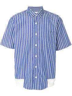 полосатая рубашка с короткими рукавами Sacai