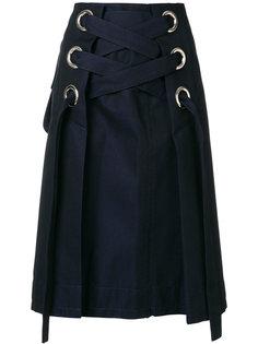 юбка со шнуровкой Sacai