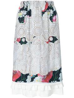 laser-cut floral midi skirt Comme Des Garçons Comme Des Garçons