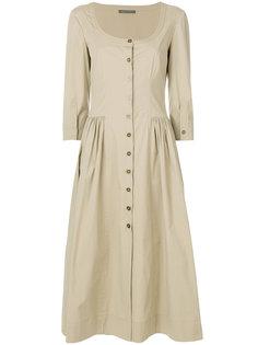 расклешенное платье-рубашка Alberta Ferretti