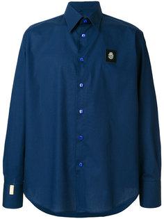 рубашка с нашивкой логотипа Billionaire