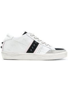кроссовки с панелями с заклепками Leather Crown